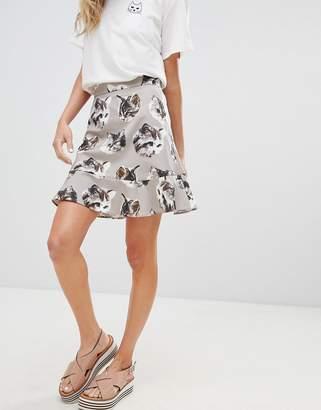 Paul & Joe Sister Cat Print Mini Skirt