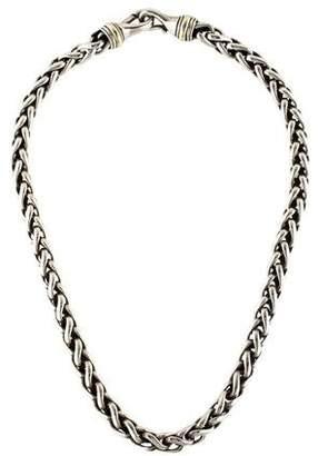 David Yurman Two-Tone Wheat Chain Necklace
