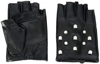 Karl Lagerfeld Cat Pearl gloves
