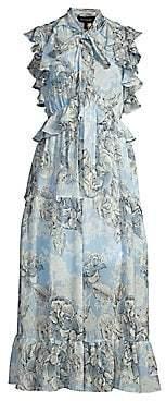 Robert Rodriguez Women's Clara Floral Ruffle A-Line Midi Dress