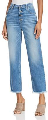 Paige Sarah High Rise Straight Jeans in Venice