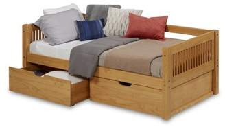 DAY Birger et Mikkelsen Camaflexi Twin Size Bed with Drawers - Mission Headboard - Natural Finish