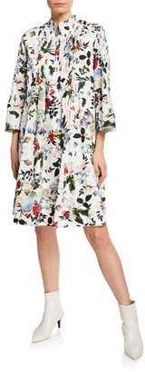 Erdem Reagan Floral-Print Button-Front Dress