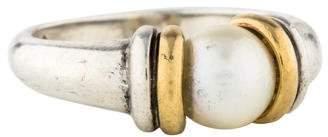 Movado Two-Tone Pearl Ring