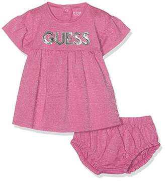 27edac2710 GUESS Girls  Ss Dress Pink Lurex Stripes S407