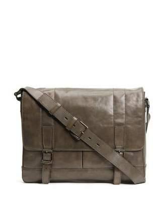 Frye Men's Oliver Leather Messenger Bag, Olive