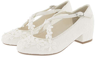 Monsoon Lace Flower Strap Charleston Shoes