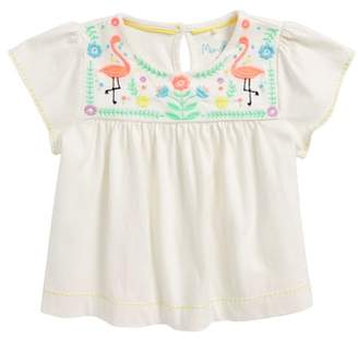 Boden Mini Embroidered Joke Top