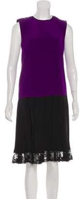 Marc Jacobs Silk Sleeveless Pleated Knee-Length Dress w/ Tags