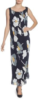 Catherine Malandrino Delphine Pleated Floral Maxi Dress