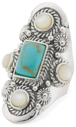 Made In Thailand Sterling Silver Mother Of Pearl Ring