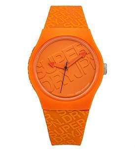 Superdry 3 Hands Matte Orange Dial