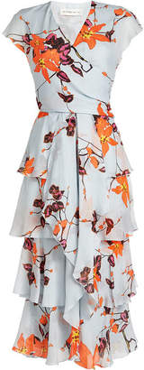 Etro Jade Printed Silk Chiffon Dress