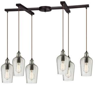 ELK Lighting Hammered Glass 6-Light Pendant