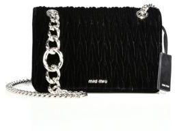 Miu MiuMiu Miu Club Medium Matelasse Velvet Crossbody Bag
