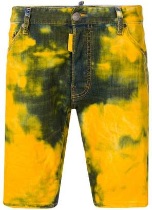 DSQUARED2 bleached denim shorts