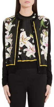 Dolce & Gabbana Lily Panel Silk Cardigan
