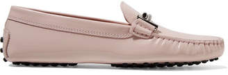 Tod's Gommino Embellished Patent-leather Loafers - Pastel pink