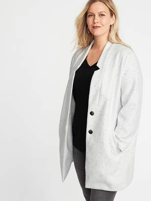 Old Navy Plus-Size Soft-Brushed Button-Front Coat