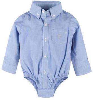 Andy & Evan Long-Sleeve Button-Down Poplin ShirtzieTM, Size 3-24 Months