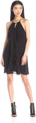 BCBGMAXAZRIA Azria Women's Hattie Short Ruffle Dress