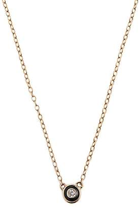 Alison Lou Enamel & Yellow Gold Salt Necklace - Womens - Black