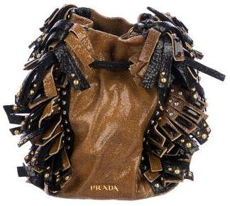 Prada Craquele Bucket Bag