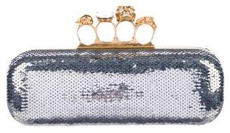 Alexander McQueen Sequin Embellished Knuckle Duster Clutch