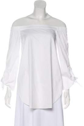 Tibi Off-Shoulders Long Sleeve Top