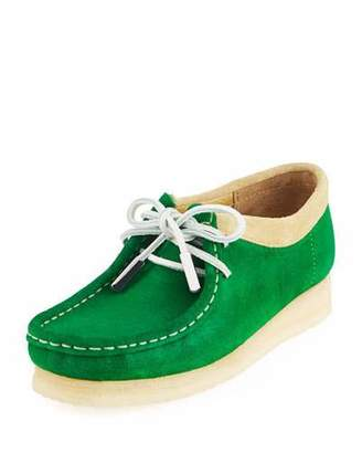 Sycamore Style Women's Suede Moc Wallabee Shoe, Monster Green