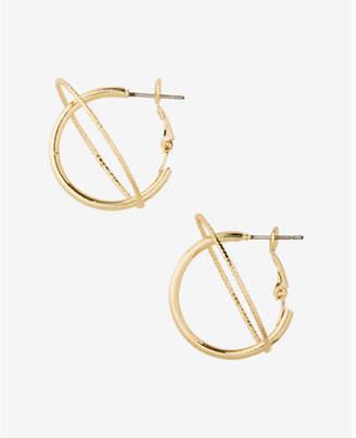 Express orbit hoop earrings