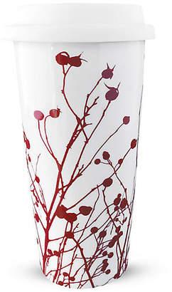 Caskata Winterberries Travel Mug - Red