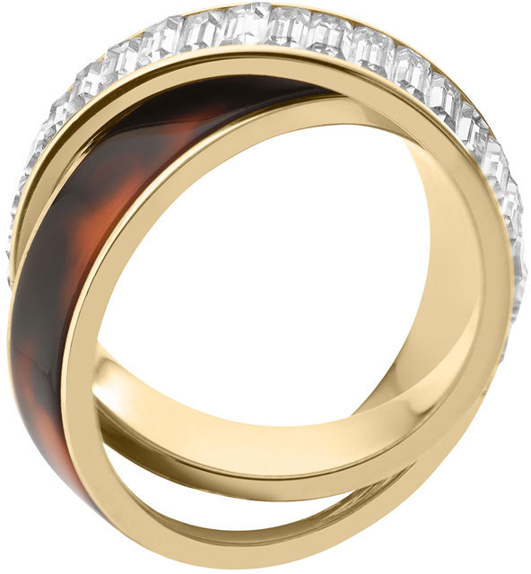 Michael Kors Baguette/Tortoise Eternity Ring, Golden