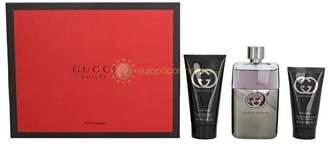Gucci Guilty by for Men 3 Piece Set Includes: 3.0 oz Eau de Toilette Spray + 2.5 oz After Shave Balm + 1.6 oz Shower Gel