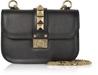Valentino Lock Small Leather Chain Shoulder Bag