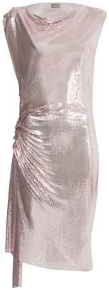 Paco Rabanne x the webster ruched chain-link dress