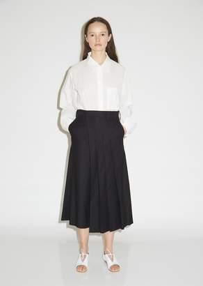 Y's K-Pleats Cotton Wide Leg Pants