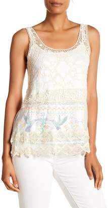 Desigual Crochet Mesh Sleeveless Top