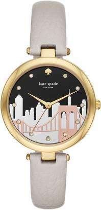 Kate Spade Varick Leather Strap Watch, 36mm