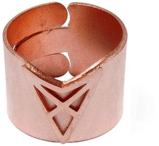 Dutch Basics - The Hef Adjustable Broad Ring Rose Gold