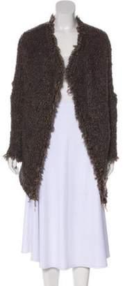 IRO Mohair-Blend Longline Cardigan Brown Mohair-Blend Longline Cardigan