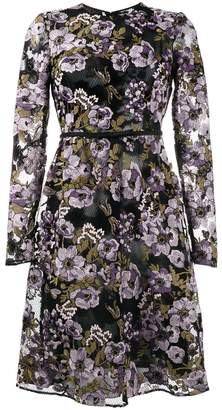 Giambattista Valli floral embroidered bow embellished dress