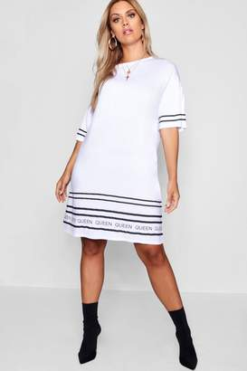 boohoo Plus Queen Printed Tshirt Dress