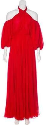 Giambattista Valli Pleated Evening Gown