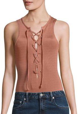 Tularosa Nile Lace-Up Bodysuit $108 thestylecure.com