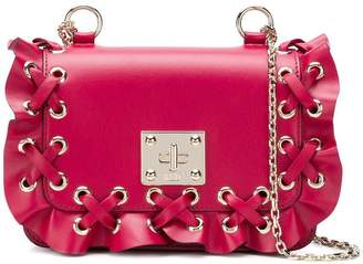 RED Valentino RED(V) ruffle-trimmed shoulder bag