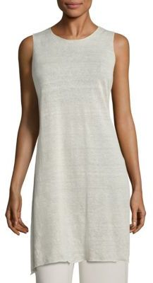 Eileen Fisher Linen Crepe Sleeveless Tunic $228 thestylecure.com