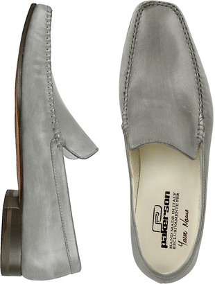 Pakerson Gray Italian Handmade Leather Loafer Shoes