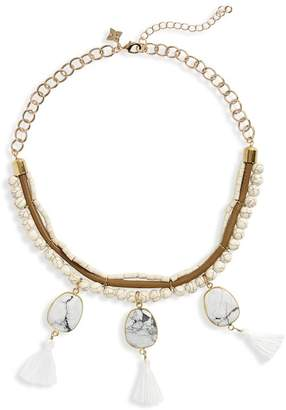 Panacea Bead & Tassel Collar Necklace