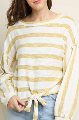 Umgee USA Striped long sleeve top